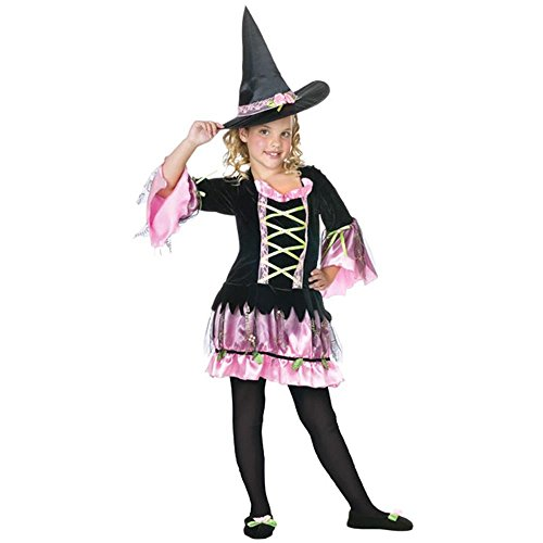 Child's Blossom Witch Halloween Costume (Size: Medium 8-10)