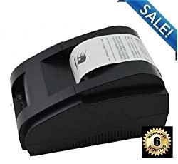 JT Compact 58mm POS Thermal Printer (Black, Compatible ESC/POS Command, Built-in data buffer Supports Bar Code Print.)