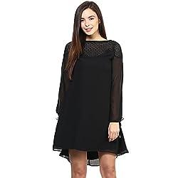 RARE Black Full Sleeves Georgette dress for women