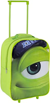 Disney Monsters University Wheeled Trolley Bag Kids Luggage - Mike Design from New World Toys