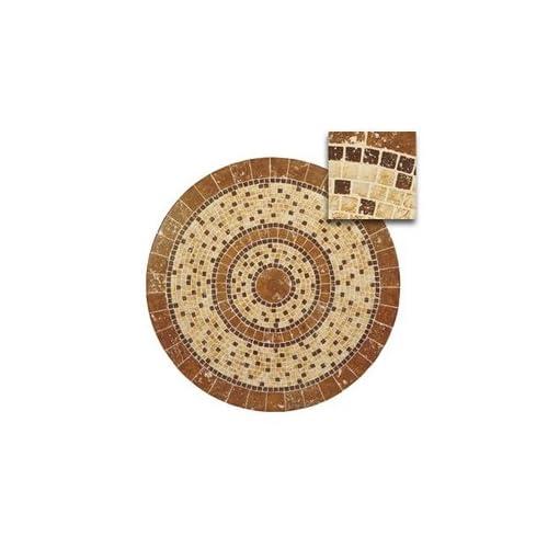 ": Woodard Stone 36"" Square Mosaic Patio Table Top with Umbrella Hole"