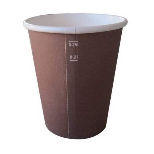 Brown Colored Coffee Cup 4Oz - 50 Pcs Pack
