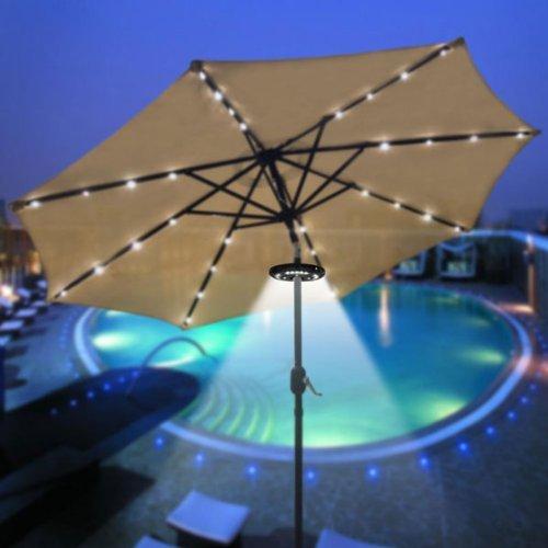 patio umbrella accessories wireless 24 led umbrella light. Black Bedroom Furniture Sets. Home Design Ideas