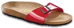 Birkenstock Classic Madrid Birko-Flor Sandal Clogs - Tango Red Patent 40