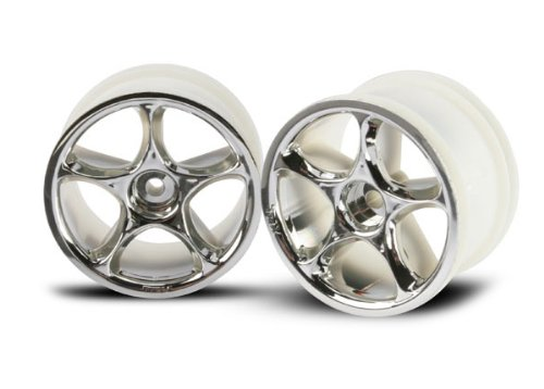 Traxxas 2472 Tracer Rear Wheels, Chrome, Bandit, 2-Piece - 1