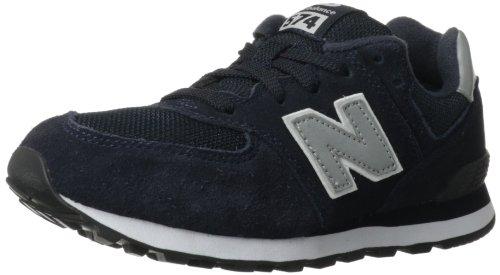 New Balance Kl574 Pre Running Shoe (Little Kid),Navy/Silver,13 M Us Little Kid