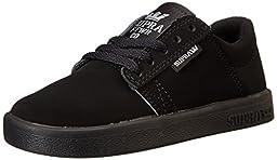 Supra Kids Westway Black/Black/Black Skate Shoe 2 Kids US