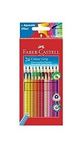 Faber-Castell 112424 - Farbstifte Colour GRIP 2001, 24er Kartonetui