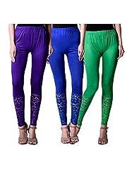 BULLY Women's Net Viscose Leggings Combo Pack of 3