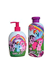 My Little Pony Bathroom Bundle: Two Items - One 12 Fl. Oz Groovy Grape Bubble Bath and One 8 Fl. Oz Rainbow Punch Hand Soap