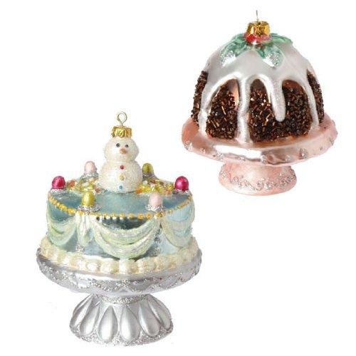RAZ Imports – CAKE ORNAMENTS – (SET OF 2)