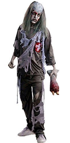 GuPoBoU168 Halloween Cosplay Adult Horrible Rotten Zombie Suit Outfit