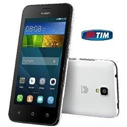Huawei Ascend Y5 Smartphone, 8 GB, Marchio TIM, Black&White