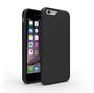 Binwo iPhone 6 6S Case,Protective Soft-Interior Anti-scratch Slim Lightweight Bumper Durable Metallic Finished Base Hard Back Cover Case for Apple iPhone 6 6S 4.7 inch (Black)
