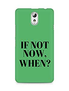 AMEZ if not now when Back Cover For Lenovo Vibe P1M