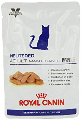 Royal Canin Vet Care Nutrition Wet Cat Food Feline Neutered Adult Maintenance100g (Pack of 48)