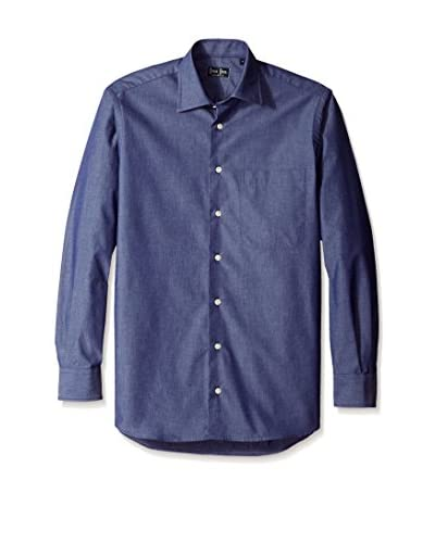 Gitman Blue Men's Diamond Pattern Spread Collar Sport Shirt