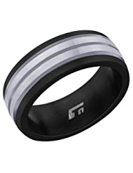 Peora Valentine Titanium Brushed-Finish Men's Ring TR162
