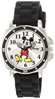 "Disney Kids' MK1080 ""Mickey Mouse"" Watch with Black Rubber Strap from Disney"
