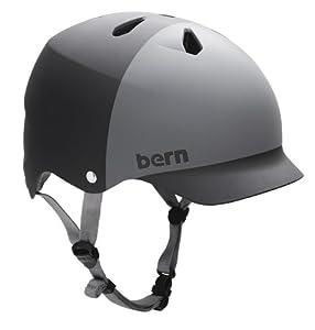 BERN Watts EPS 2-Tone Summer Matte Helmet (Black/Grey, Small)