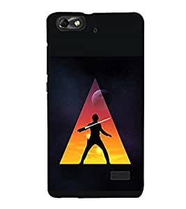 printtech Star Jedi Sword Abstract Back Case Cover for Huawei Honor 4C