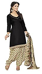 Lovely Look Latest Black Printed Dress Material
