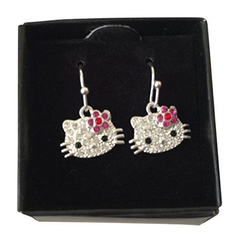 [Hello Kitty Sparkle Earrings By Avon] (Hello Kitty Ears)