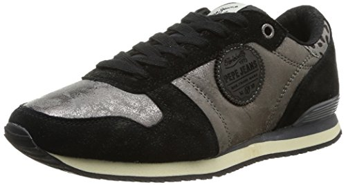 Pepe Jeans London, Sneaker Donna, Blu (Blau (CHROME 952)), 38