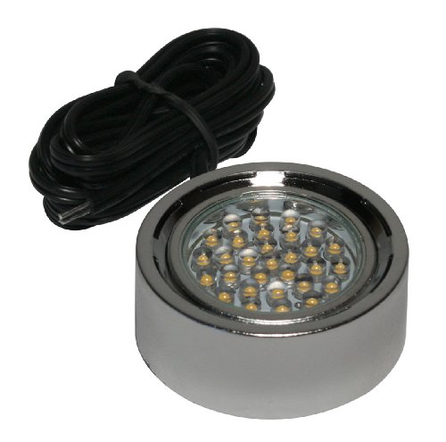 American Lighting Lp30-Nk Single 1.5-Watt Led Thirty Puck Light With 6-Foot Lead-Wire, 12-Volt Dc, Nickel