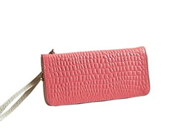Carlo Dinah Women's Classic Fashion Candy Colored Dreamy Quality Paint Pu Leather Wrist Bag