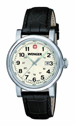 Wenger 01.1021.102 - Orologio da polso donna, pelle, colore: nero