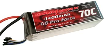 Thunder Power RC 4400mAh 6-Cell/6S 22.2V G8 Pro Force 70C LiPo Battery