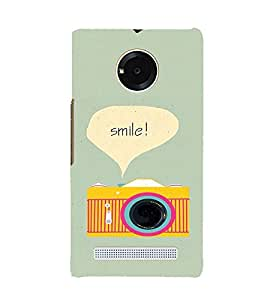 EPICCASE Smile Mobile Back Case Cover For YU YUNIQUE (Designer Case)