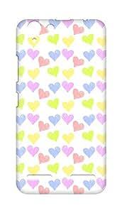 Amez designer printed 3d premium high quality back case cover for Lenovo K5 Plus (colourful hearts )