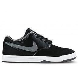 Nike SB Fokus Kids\' Skateboarding Shoe (5 Big Kid M, Black/White/Cool Grey )