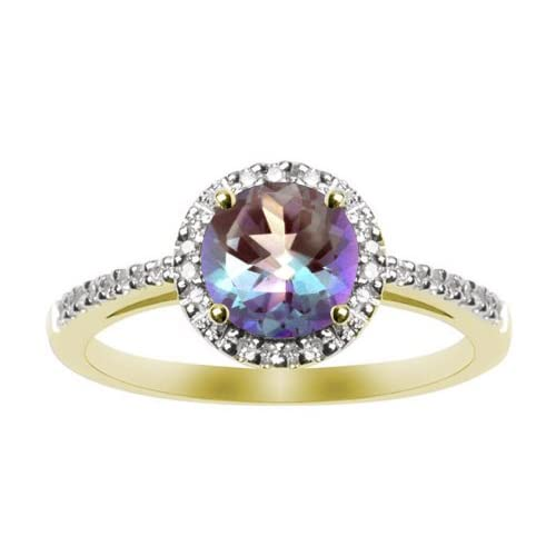 Ruby Emerald Blue Sapphire 14K Yellow Gold Ring