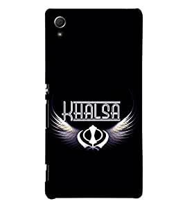 Khalsa 3D Hard Polycarbonate Designer Back Case Cover for Sony Xperia Z4