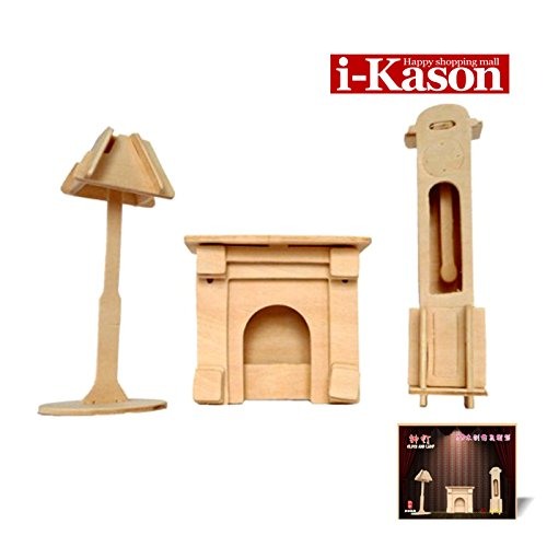 Authentic High Quality i-Kason® New Favorable Imaginative DIY 3D Simulation Model Wooden Puzzle Kit for Children and Adults Artistic Wooden Toys for Children - Bell Lamp