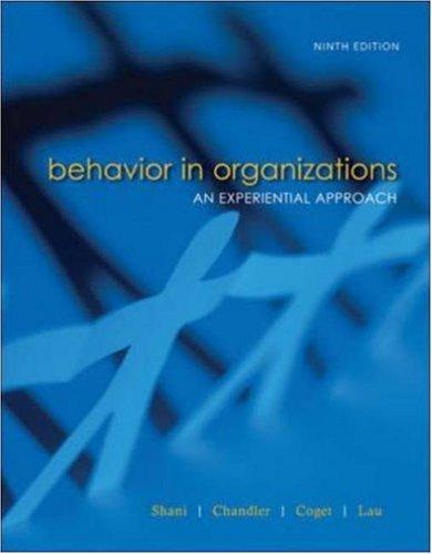 Behavior in Organizations