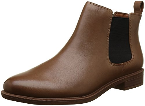 clarks-womens-taylor-shine-chelsea-boots-brown-tan-leather-5-uk