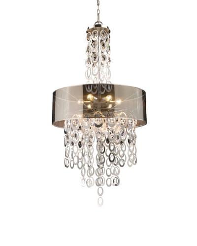 Artistic Lighting Parisienne 6-Light Pendant, Silver Leaf