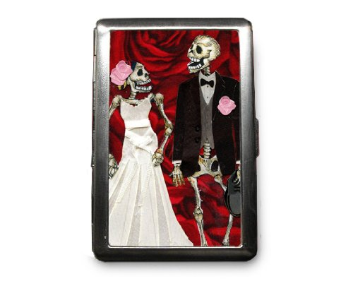 Day of the Dead Decorated ID Cigarette Case Wallet - CD119