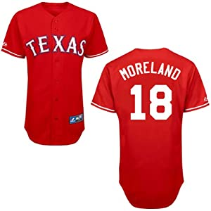Mitch Moreland Texas Rangers Alternate Red Replica Jersey by Majestic by Majestic