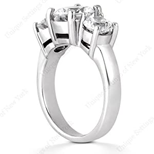 Skdiamant - Bague Trilogie 3 Diamants , 18K , Rond Brillant , 4 Carats , F , I1 - Taille : 55
