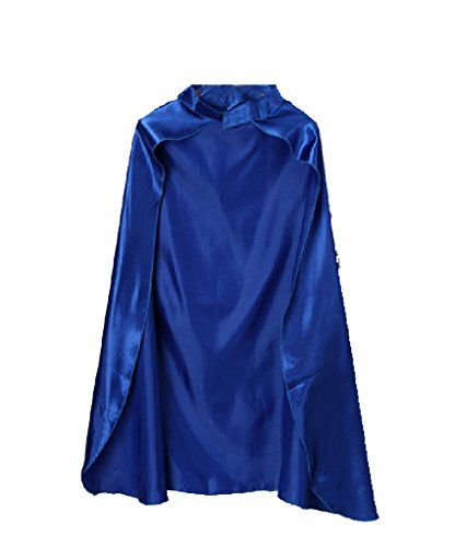 Unisex Blue Satin Costume Cape 36""