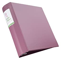 Avery Heavy-Duty Binder with 3 Inch Round Rings, Mauve, 1 Binder (06632)