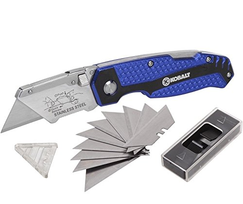 KOBALT-UTILITY-KNIFE-11-BLADES-FOLDABLE-SPEED-RELEASE-QUICK-CHANGE-BOX-CUTTER