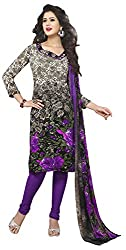 VSS Collections Women's Synthetic Unstitched Dress Material(1062,Multi-Color)