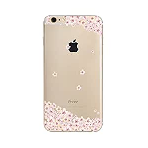 "iPhone 6 Plus Case, iPhone 6s Plus Clear Case,UCMDA Soft Flexible TPU Silicone Crystal Scratch-Proof Protective Back Case Cover for iPhone 6/6s Plus-5.5"" [Sakura in Full Blossom]"