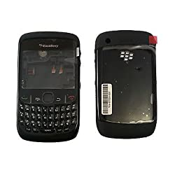 Complete Body Housing Faceplate Panel Blackberry Curve 8520 BLACK